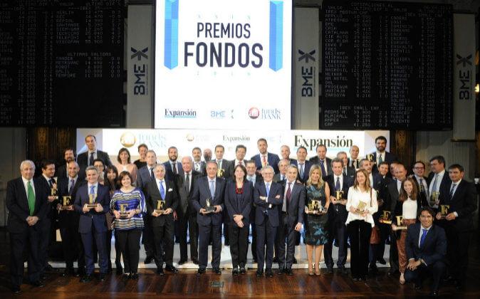 Ceremonia de entrega de los premios EXPANSIÓN-All Funds 2018. Fuente: EXPANSIÓN